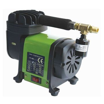 small black green air compressor