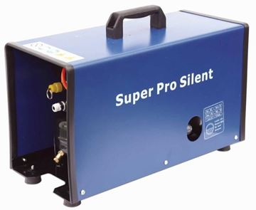 blue steel air compressor with handle