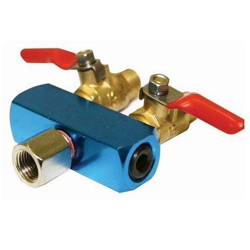 blue valve with red handle