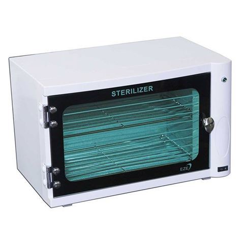 white sterilizer with green light