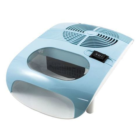 blue nail dryer with fan