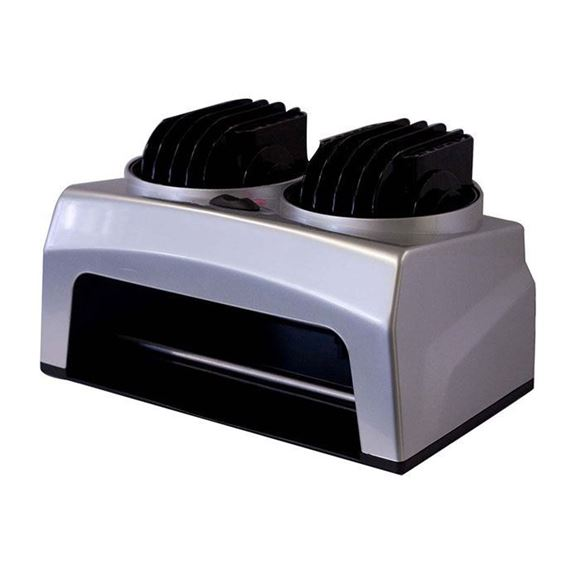 grey nail dryer with 2 black fans