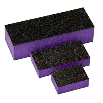 three black purple buffers