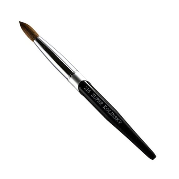 black - aluminum Kolinsky brush on white background