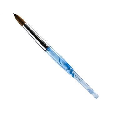 acrylic nail brush with blue handle