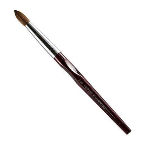 rosewood nail brush on white background