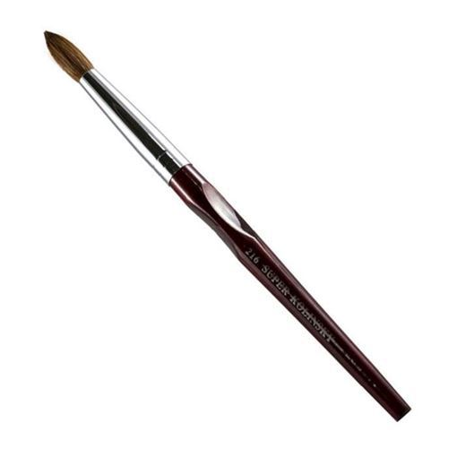 rosewood nail brush on white background