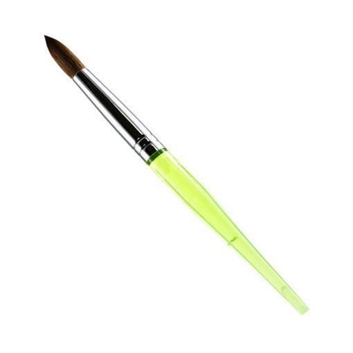 jade color nail brush