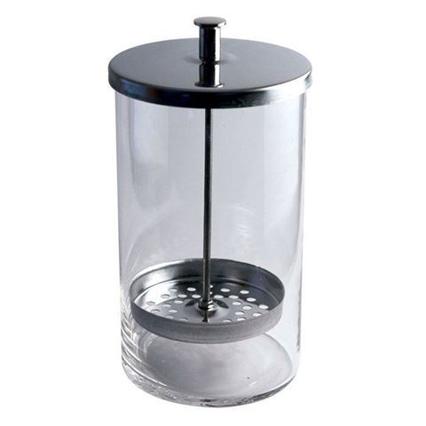 glass jar with stainless steel cover