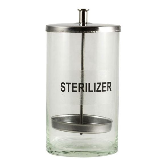 glass sterilizer jar with stainless steel cap