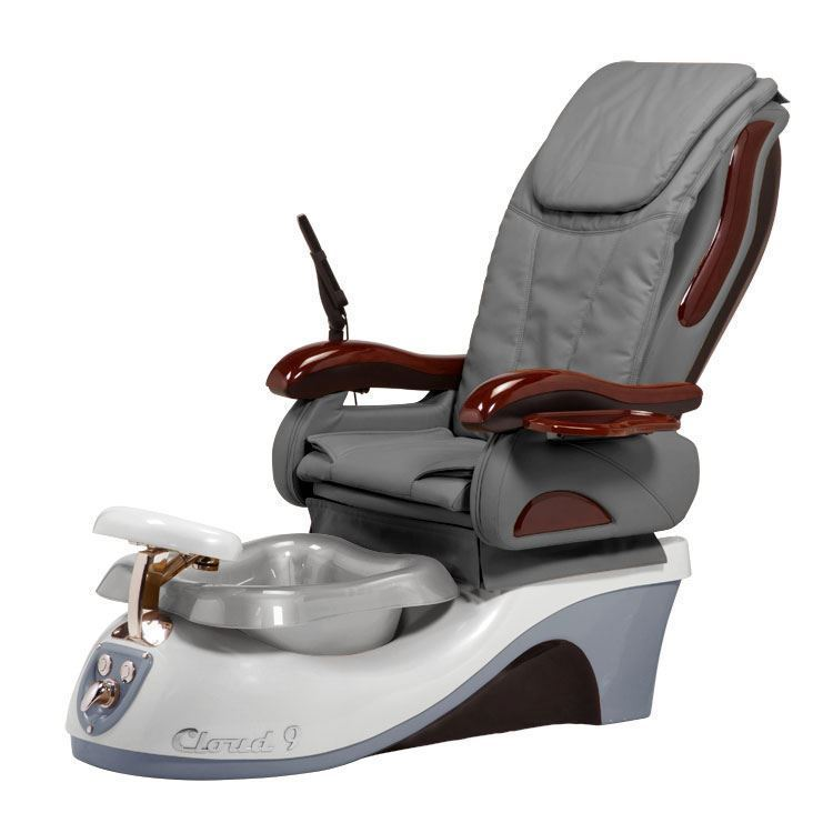 Silver Spa Chair On White Background