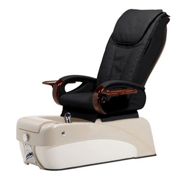 nail chair with black leather