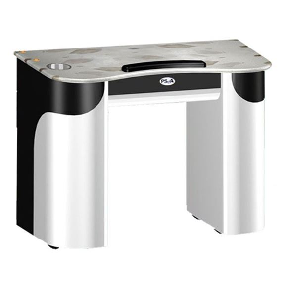 white and black color nail table