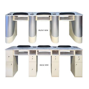 three manicure tables