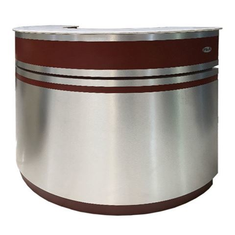 aluminum burgundy reception counter