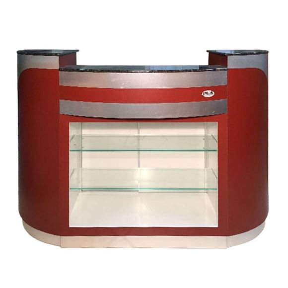 reception counter with glass