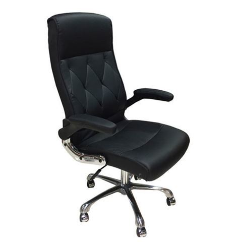 black salon customer chair