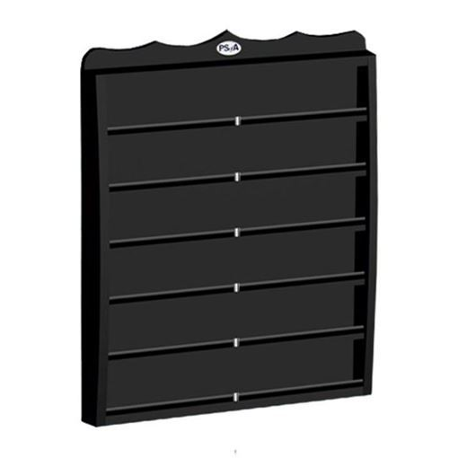 black nail polish wall mount rack