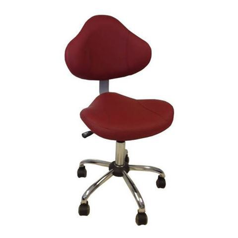 burgundy salon stool