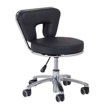 black pedicure stool