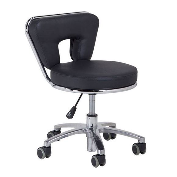 black pedicure stool