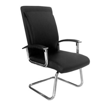 black leather waiting chair