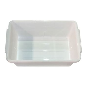 white plastic salon tray