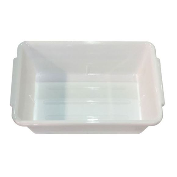 white plastic salon tray