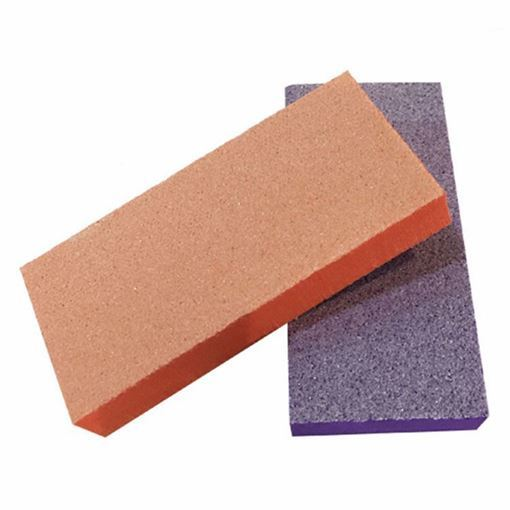 orange and purple nail buffers