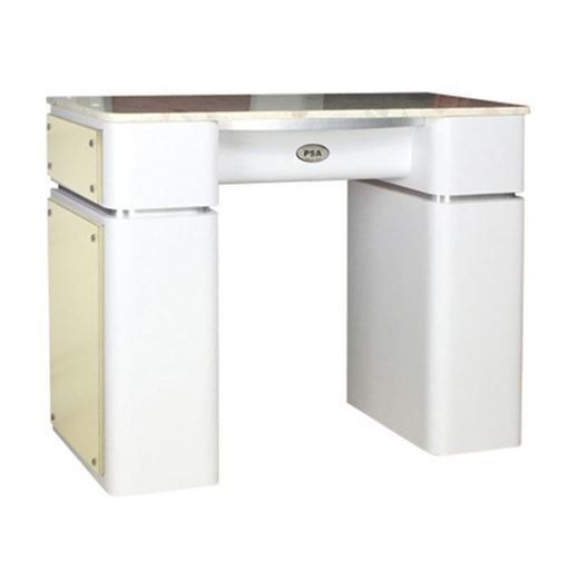 t39 nail table in white / beige