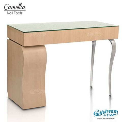 camellia nail table in prestige maple