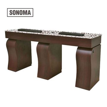gulfstream sonoma double nail table front view