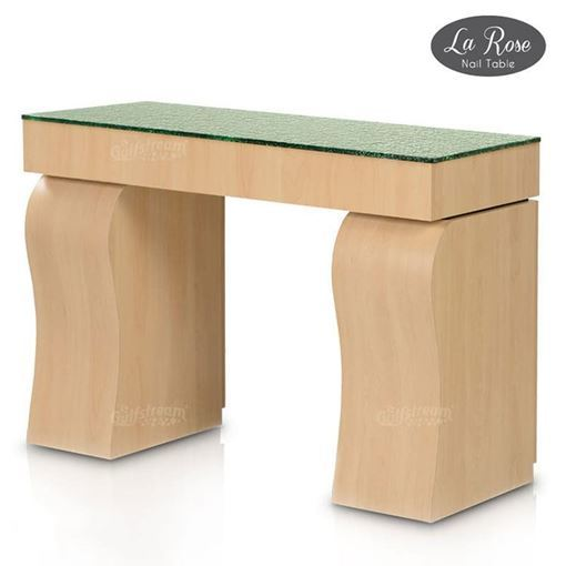gulfstream la rose nail table in prestige maple