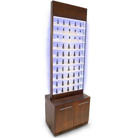Gulfstream Paris nail polish cabinet with LED lights