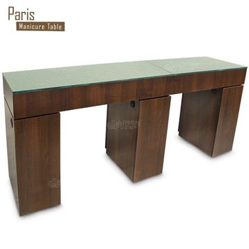 Gulfstream Paris Double nail table in truffle