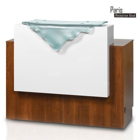 Gulfstream Paris reception counter with waterfall