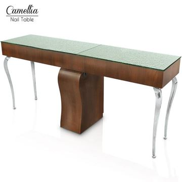 Gulfstream Camellia double nail table in truffle