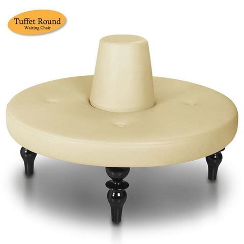 Gulfstream Tuffet salon waiting chair in butterscotch