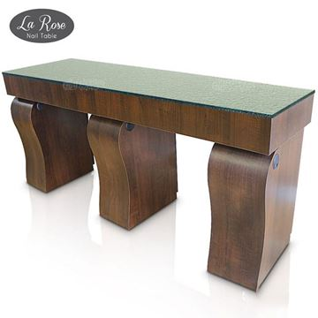 Gulfstream La Rose double nail table in truffle