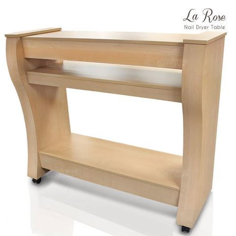 "La Rose 67.5"" Nail Dryer Station In Prestige Maple"