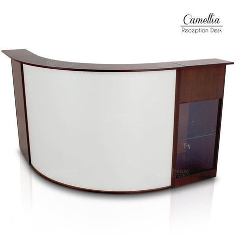 Gulfstream Camellia reception counter front view