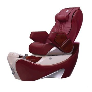 LC Deco Z550 spa chair in red base and burgundy top
