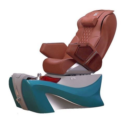 LC Deco Z-500 spa chair in turquoise base and cappuccino top