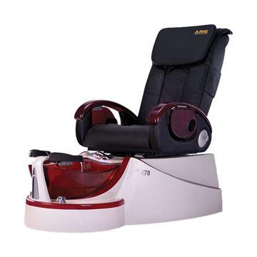 Z-470 pearl white /base & black chair