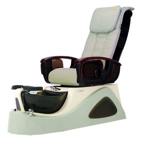 L290 pedicure spa in green base and pale green chair