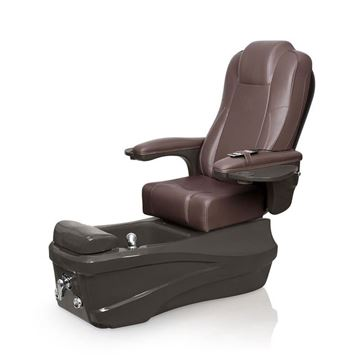 Versas pedicure spa in espresso base and walnut chair