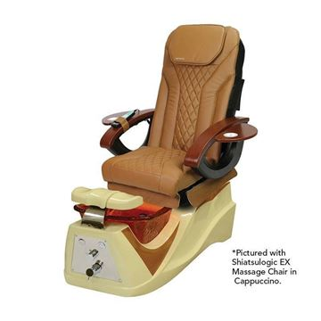 Lenoir Pedicure Chair With Cappuccino Shiatsulogic EX Chair