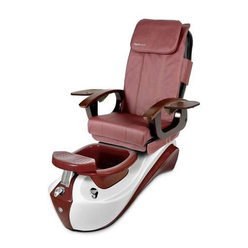 Lotus pedicure spa in ruby red base and burgundy chair