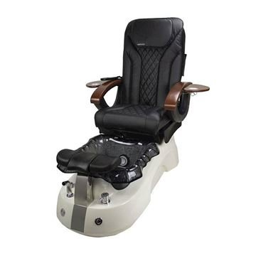 Siena pedicure spa in white base, black bowl and black Shiatsulogic EX