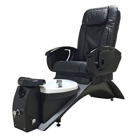 Vantage pedicure chair in espresso base and black cushion
